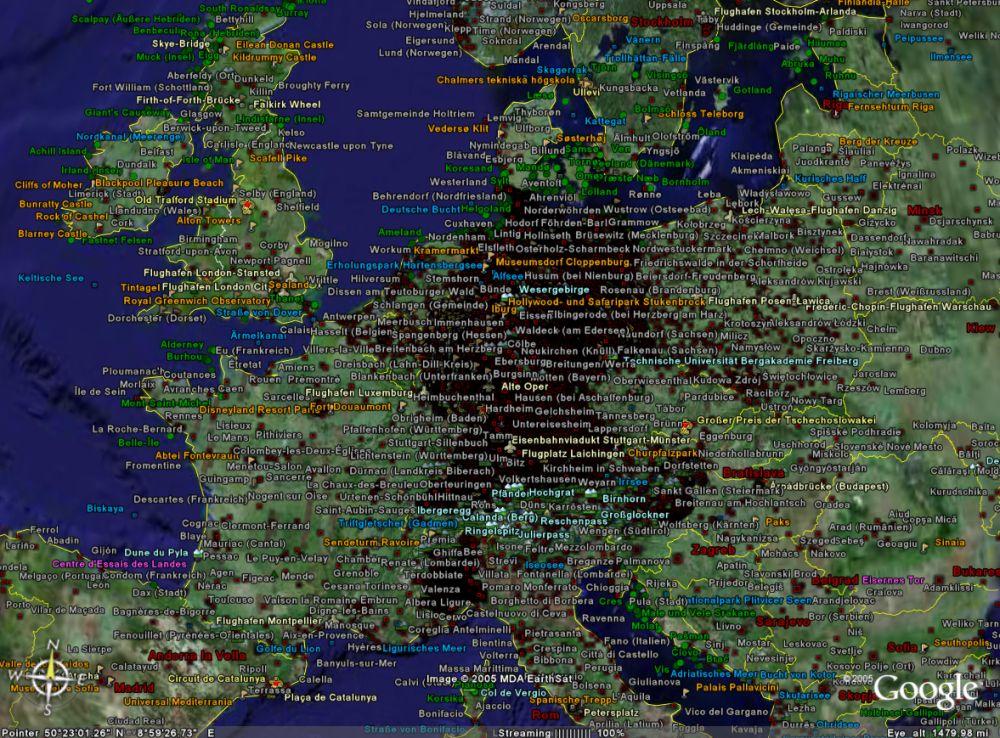 Map Of Germany Google Earth.Webkuehn De Homepage Of Stefan Kuhn